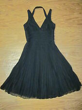 "Laundry by Shelli Segal Black Sleeveless Pleated Dress Women 6 ""NWT"" $205.00"