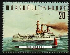 USS OREGON (BB-3) Indiana Class Battleship Warship Stamp (1997)