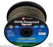 500FT 550 Paracord Spool Parachute Cord 7 Strand Forest Camo Camping Survival