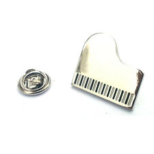 Silver Grand Piano Lapel Pin Badge Music Musical Instrument Musician Badges New