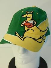 Boxing Kangaroo Australia Ball Cap Baseball Hat One Size Green Yellow Straya