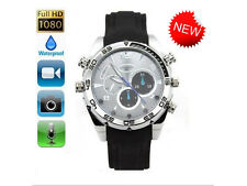 8GB 1920*1080P HD Waterproof Spy Watch Camera with IR Night Vision Hidden Cam
