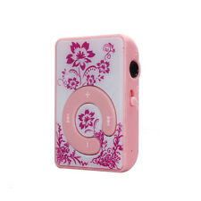 Retro Mini Clip MP3 Player Music Media Flower Pattern Support Micro SD TF Card V