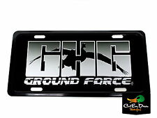 GHG GREENHEAD GEAR GROUND FORCE LOGO LICENSE PLATE AVERY METAL DUCK GOOSE DECOYS