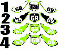 2006-2015 Kawasaki KX65 KX 65 Number Plates Side Panels Graphics Decal