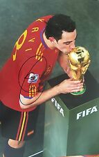 XAVI SIGNED SPAIN WORLD CUP CHAMPIONS PHOTO 2010+PHOTO PROOF*SEE XAVI SIGN THIS*