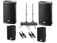 "2 x FBT Xlite 10A Active 2000W 10"" Powered Speaker DJ Disco PA Sound System"
