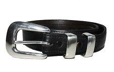 KEMO SABE Mens Belt Genuine Bison Vogt Sterling Silver Buckle Size 40