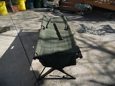 U.S. Military One Vintage Army Green Cold War Wooden Cot.Last of their kind.New