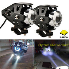 2x Motorcycle Bike Chopper CREE LED DRL Driving Fog Spot Head Light Add on Lamp
