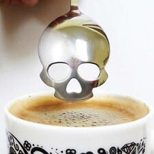 Stainless Steel Sugar Coffee Tea Skull Spoons Collectible Silverware Gadgets FW