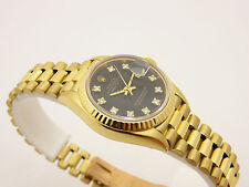 ROLEX DATEJUST LADY PRESIDENT  ORO 18 KT DIAMOND DIAL  AUTOMATIC  REF 69178 BOX