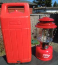 COLEMAN MODEL 206 KEROSENE LANTERN  MADE IN USA IN AUG. 1982 WITH CARRY CASE