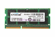 Crucial 4GB DDR3 PC3-8500 1066MHz 204pin 1.5V Laptop Memory Sodimm RAM CL7 B198