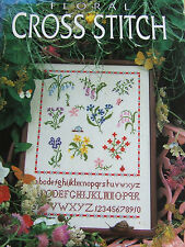 FLORAL CROSS STITCH MELINDA COSS 1994 BLITZ EDITIONS ANEMONE COLUMBINE LILY VALL