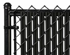 Chain Link Black Single Wall Ridged Privacy Slat For 5ft High Fence Bottom Lock