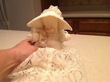 Vintage Handmade Lace Bonnet Girl Rag Stuffed Doll Soft Very Clean Pretty!!!