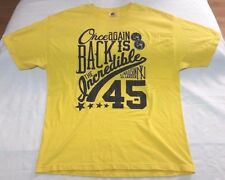 Undrcrwn Double Nickel Back is the Incredible 45 t-shirt men sz XL yellow Jordan