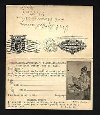 CV16 1905 UY14 Taking A Lesson  Language Schools French German & French