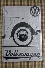 VW Beetle Car Tin Metal Sign Painted Poster Club Book  Wall Art Office Garage 2