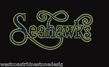 Seattle Seahawk Rhinestone Iron on Transfer    8JMZ
