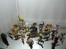 Large Lot of 30 Plastic Wild Animals / Figures : All Excellent -