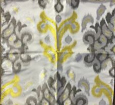 MPC514 HEAVY Embroidered Lampas Ikat SILK Fabric Remnant DIY Crazy Quilt Sew
