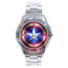 Captain America Shield Logo Analogue Men's Watch With No T Shirt