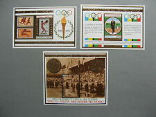 NIGARAGUA, 3x S/S (gold) 1975, Olympic Games Montreal