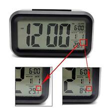 Digital Snooze LCD Alarm Clock LED Light  Time Calendar Temperature Display