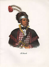 VINTAGE PRINT of 1830's NATIVE AMERICAN INDIAN ~ McINTOSH ~ CREEK