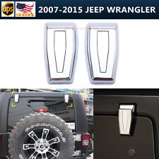 2pcs Rear Liftgate Window Hinge Covers Triple Chrome For 07-16 Jeep Wrangler JK