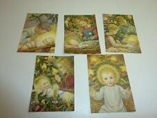 "5 pcs vintage blank greeting cards pictures  ARS SACRA ""child and Jesus ""302"""