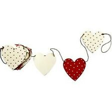 Heart Shaped Wooden Bunting Ruby 265cm Long