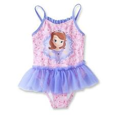 NWT Disney Baby Sofia the First Toddler Girl's Swimsuit 4T Bathing Suit 1pc Tutu