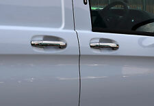 TO FIT MERCEDES BENZ VITO W447 2014+: CHROME DOOR HANDLE TRIM SET COVERS S.STEEL