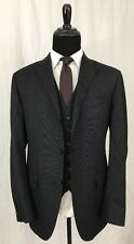 Polo Ralph Lauren Flannel Navy Striped 3 Piece Suit, 42L, Corneliani