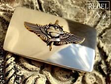 Cuore Ala Argento Wings Heart VINTAGE Cintura Fibbia Fibbia di cambio Buckle 4cm