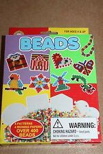 Perler style Beads - Fused Bead Set, School Crafts 4 patterns over 400 beads