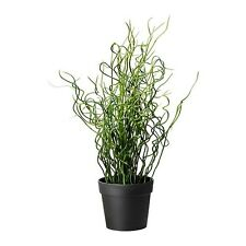 IKEA FEJKA Artificial Plastic Potted Plant Home Office Nature Corkscrew Rush NEW