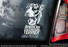 American Staffordshire Terrier - Car Window Sticker - Dog Sign -V01