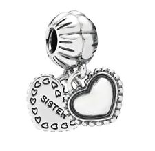 Authentic Pandora Sterling Silver Charm My Special Sister Heart Bead 791383