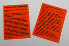2 x Orange laminated geocache instructions for muggles. Geocaching. Cache GPS