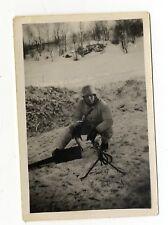 Org. Foto Winter Wintertarn 1942 MG Maschinengewehr