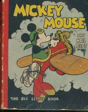 14pc-Disneyana-Big Little Book-1933-Mickey Mouse the Mail Pilot-softcover