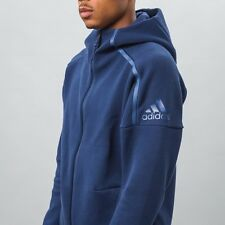 Men's Adidas ZNE Hoodie Zip Up S94806 Med Navy  Zero Negative Energy MSRP $100