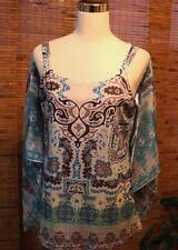 Shirt Blouse 2 Piece Sheer Blouse & Tank Top Sublimation Large Covington L