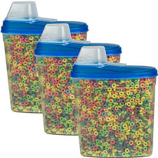 3 Pack Large Cereal Keeper Food Storage Container 23.75 Cup BPA Free