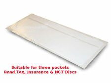 New Tax Disc Car Van Road Tax Insurance NCT Disc Holder White - 3 Wallet Permit