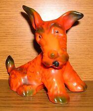 Porzellan Terrier hellrot 10cm Hund Art Deco